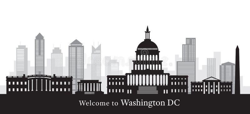 Washington DC, punkty zwrotni, w Czarny I Biały ilustracji