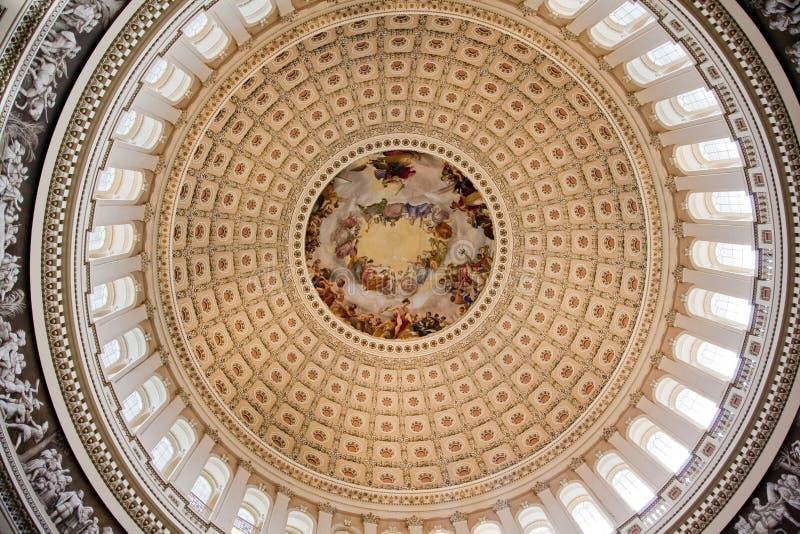 Washington DC rotunda d'Apothesis de dôme de capitol des USA photos libres de droits