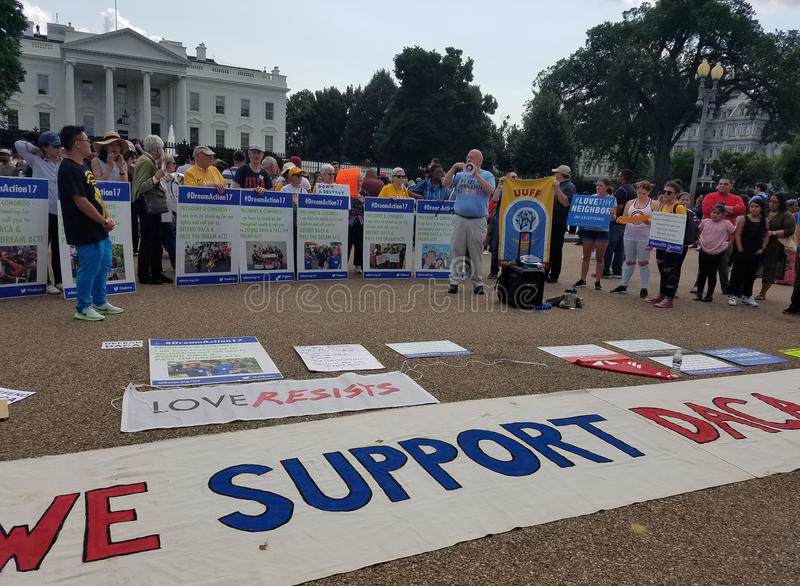 WASHINGTON DC - September 03, 2017: DACA and DREAM Act protests royalty free stock photo