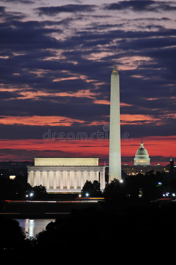 Washington DC Skyline royalty free stock images
