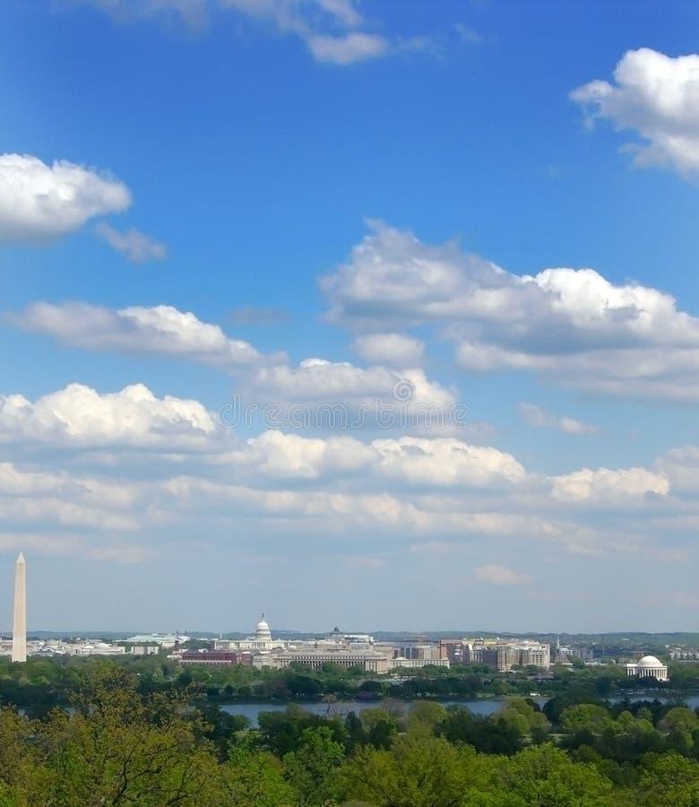 Washington DC-Skyline lizenzfreie stockfotos