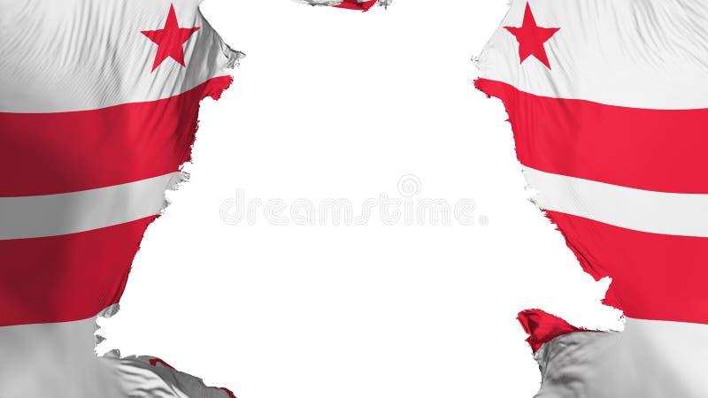 Washington DC stanu flaga rozdzierająca oddzielnie ilustracji