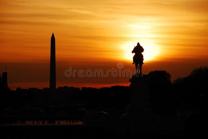 Download Washington DC sunset stock image. Image of america, monument - 13936253
