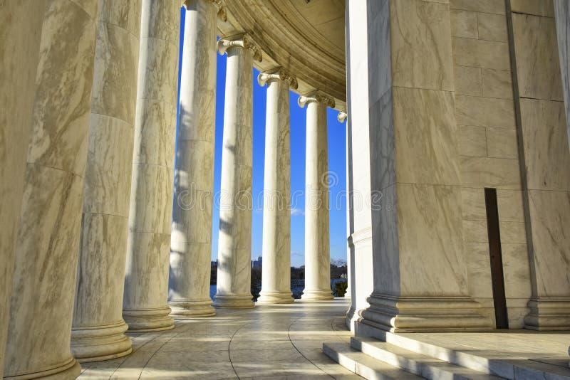 Washington DC Thomas Jefferson Memorials (Teil von hinterem) -, USA lizenzfreie stockfotos