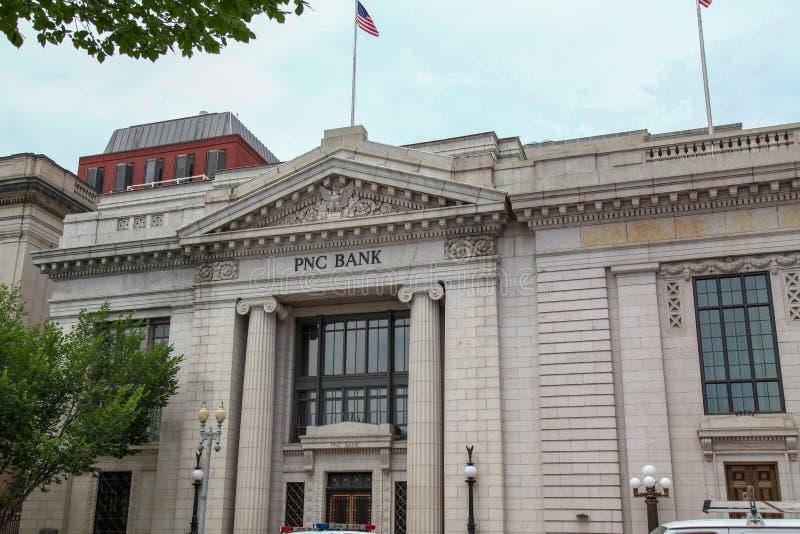 WASHINGTON DC, U.S.A.-giugno 14,2018: Davanti a PNC la Banca è la banca di America al viale della Pensilvania a Washington ad U.S immagine stock