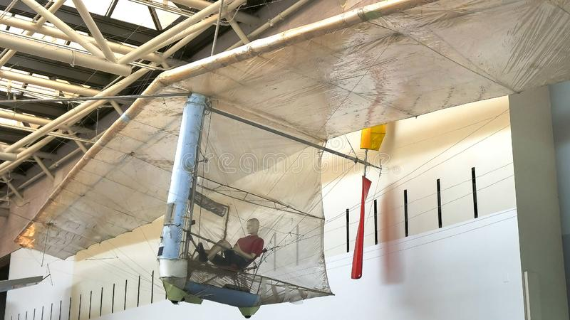 WASHINGTON, DC, U.S.A. - 10 SETTEMBRE 2015: ampio punto di vista del condor della mussola, il primo riuscito aeroplano umano a fo immagine stock libera da diritti