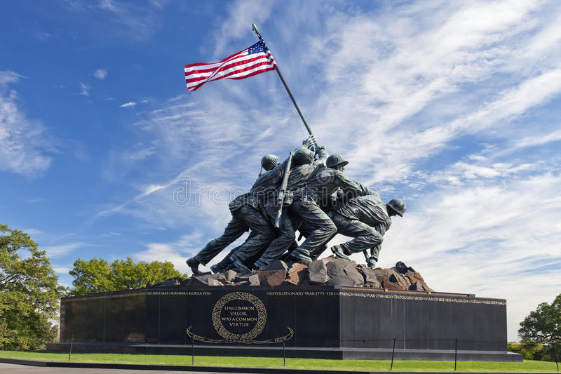 WASHINGTON DC, usa - Iwo Jima statua obrazy stock
