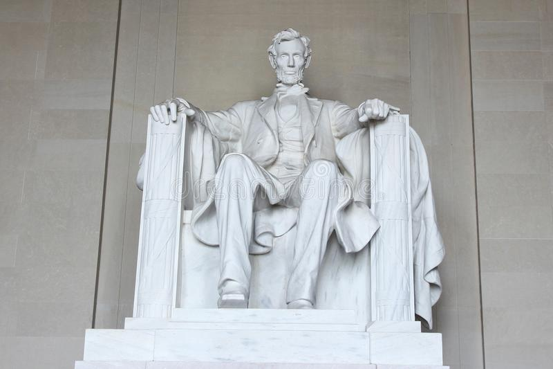 WASHINGTON DC USA-Juni 14,2018: Staty av Abraham Lincoln i L royaltyfria foton