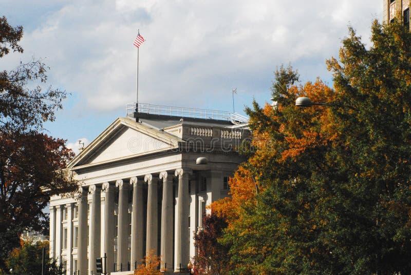 Washington DC USA-kassabyggnaden i nedgången royaltyfri foto