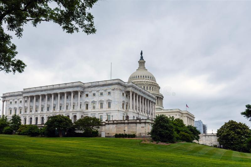Washington DC, USA,  The United States Capitol view from the street - image stock photo
