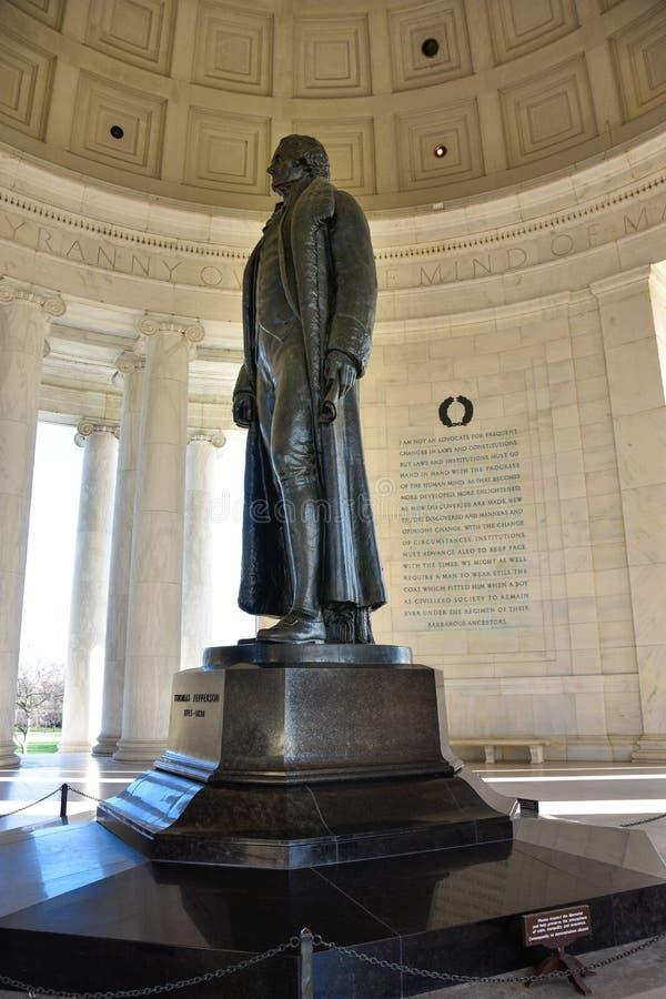 Washington DC, usa Widok Thomas Jefferson pomnik fotografia stock