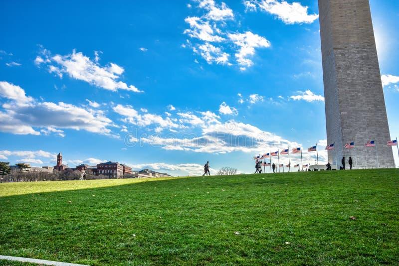 Washington DC, usa Widok Waszyngtoński zabytek w niebieskim niebie zdjęcia royalty free