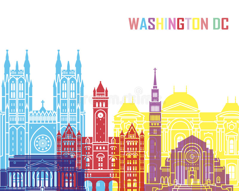 Washington DC V2 linii horyzontu wystrzał royalty ilustracja