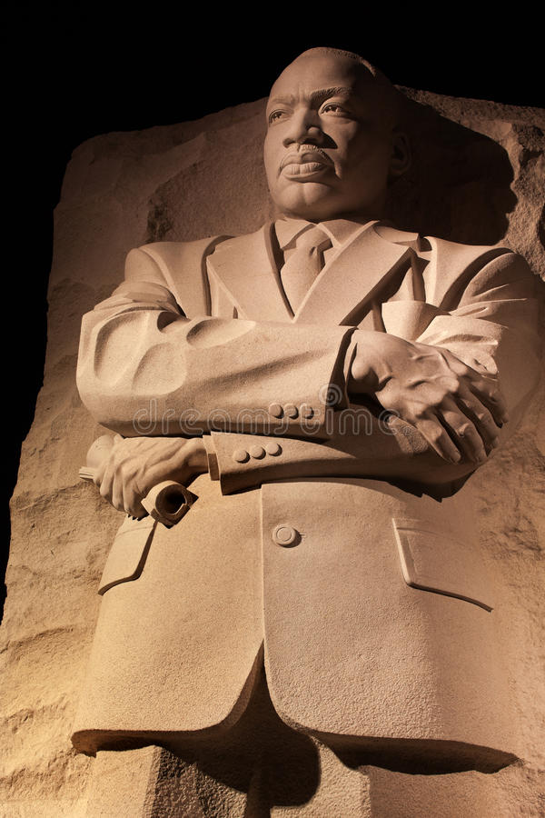 Washington DC van de Nacht van Martin Luther King het Herdenkings stock afbeeldingen