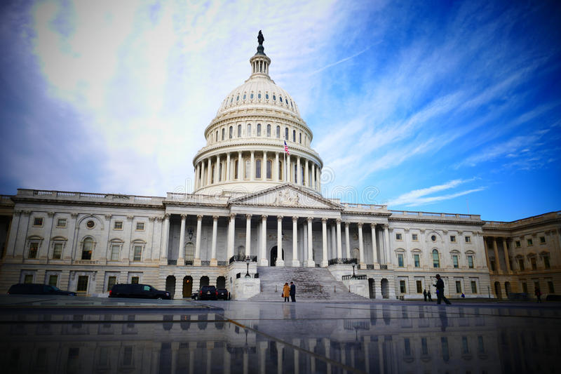 Washington DC, Verenigde Staten 2 februari 2017 - Capitol Hill B royalty-vrije stock afbeelding