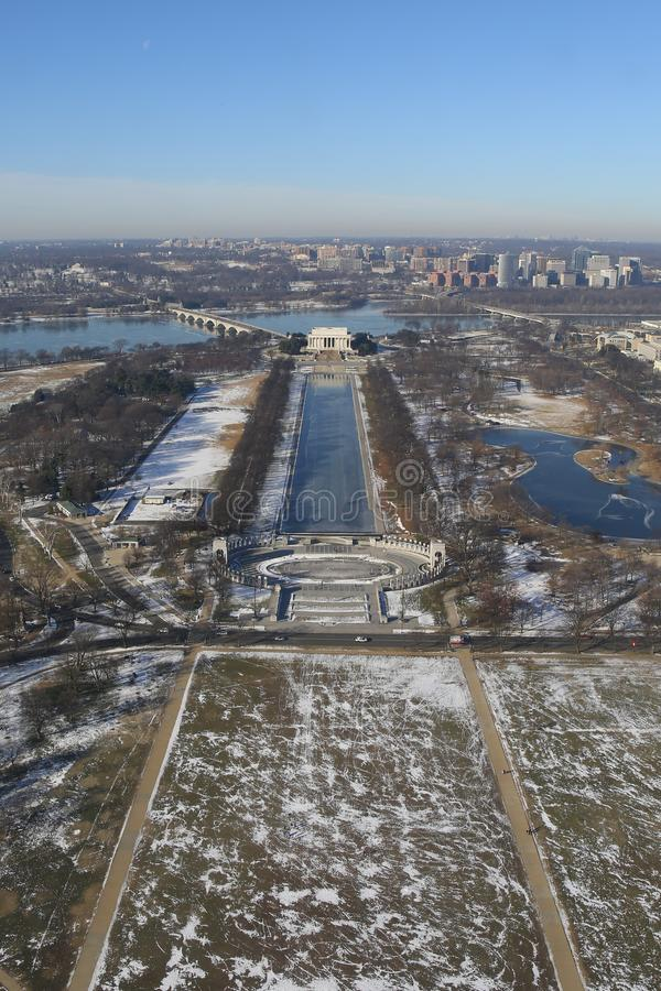 Washington DC, vista aerea fotografia stock