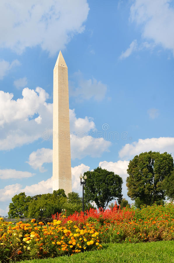 Washington DC, Washington Monument in de Lente royalty-vrije stock afbeelding