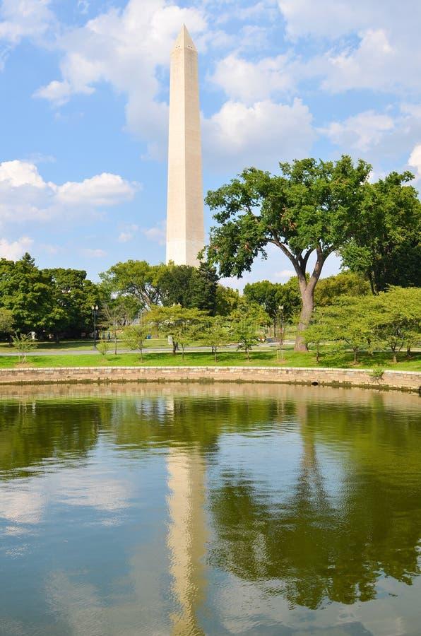 Washington DC Washington Monument i vår arkivbild