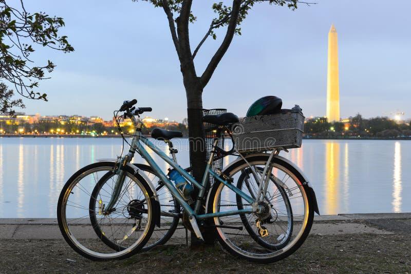 Washington DC, Waszyngtońskiego zabytku n wiosna obraz royalty free