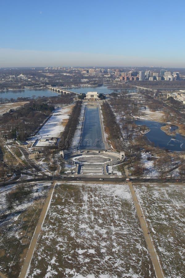 Washington DC, widok z lotu ptaka zdjęcie stock