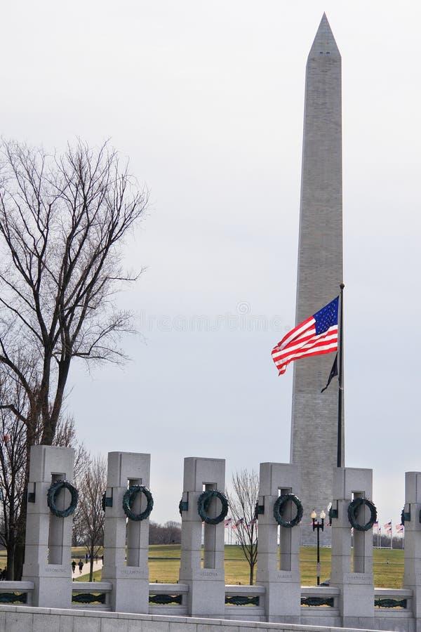 Washington DC, WWII Denkmal und Denkmal stockfotografie