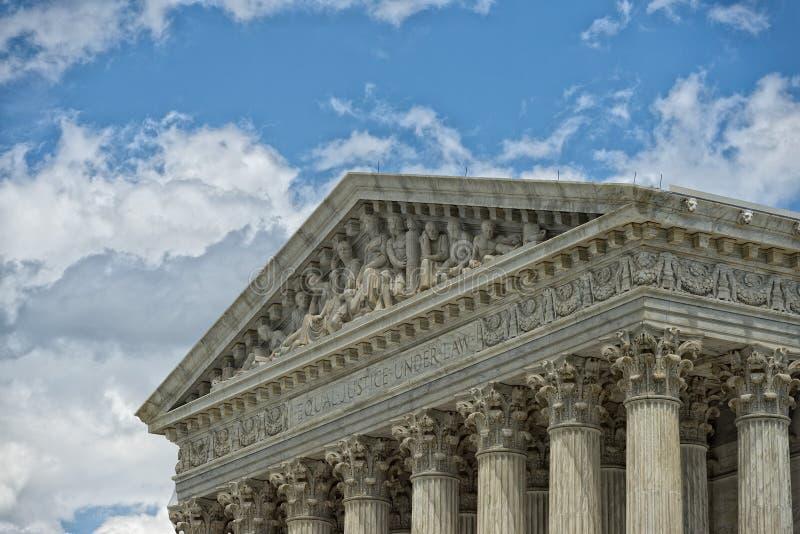 Washington DChögsta domstolenfasad royaltyfri foto