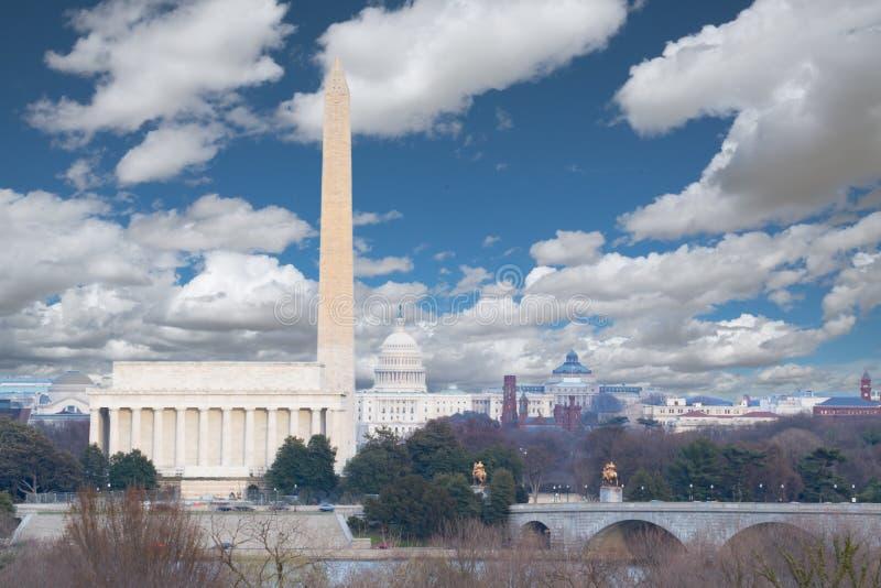 Washington, de Horizon van gelijkstroom stock foto