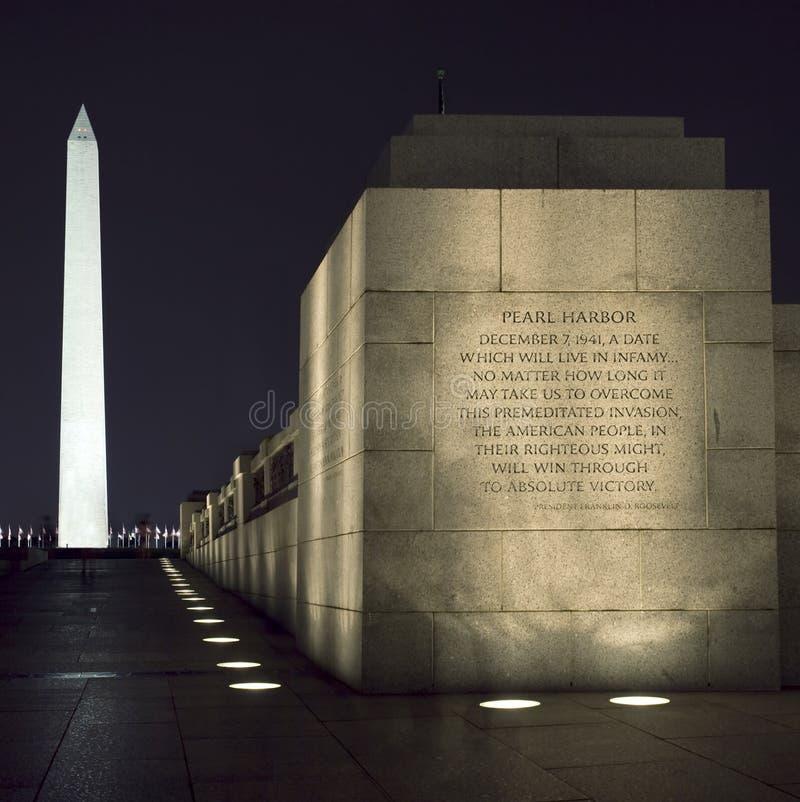 Washington-Denkmal, Gleichstrom, nachts stockbilder