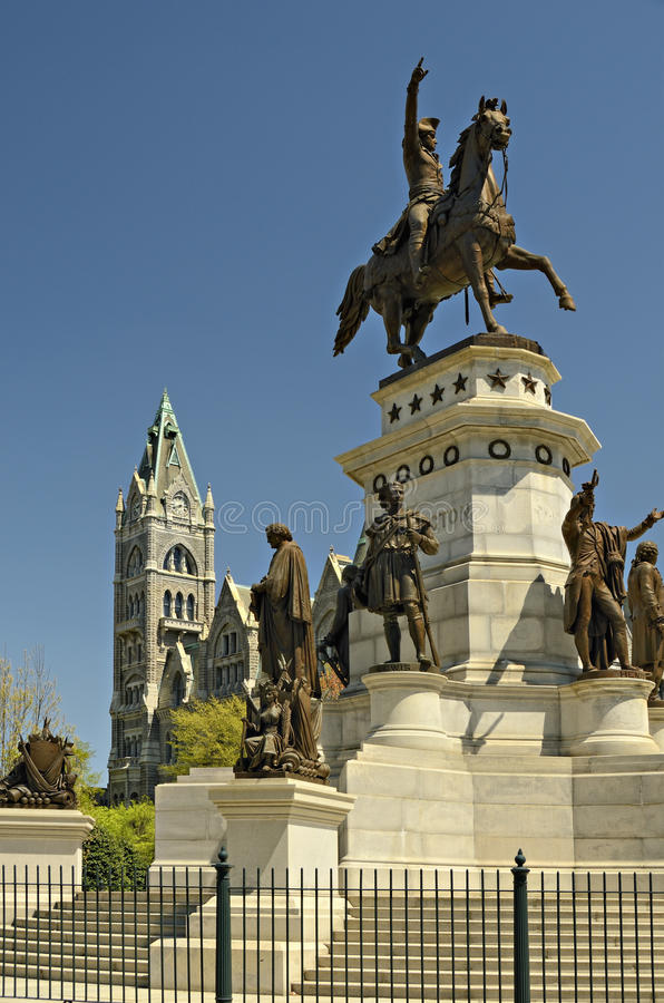 Washington-Denkmal Richmond Virginia lizenzfreie stockbilder