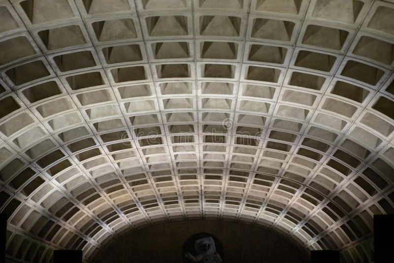 WASHINGTON, DISTRICT OF COLUMBIA - APRIL 14: Washington DC Metro Subway Train Station on April 14, 2017. WASHINGTON, DISTRICT OF COLUMBIA - APRIL 14: View of royalty free stock photography
