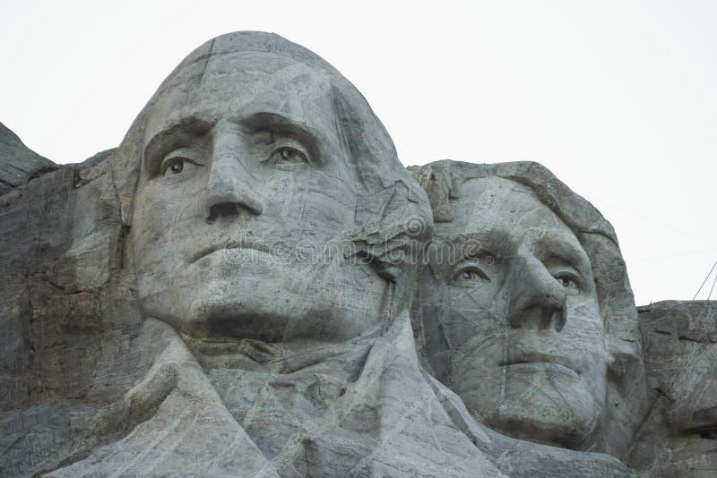 Washington e Jefferson em Rushmore imagens de stock