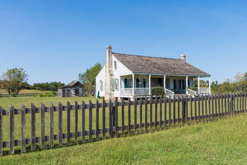 Washington en el sitio histórico del estado de Brazos en Washington, Texa foto de archivo