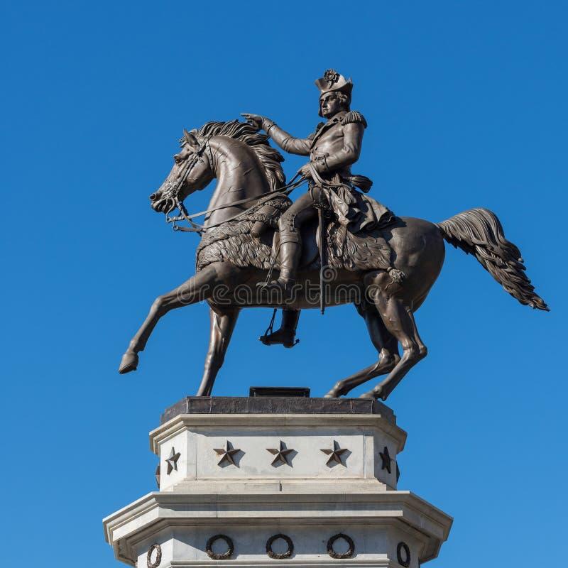 Washington Equestrian Monument fotos de archivo libres de regalías