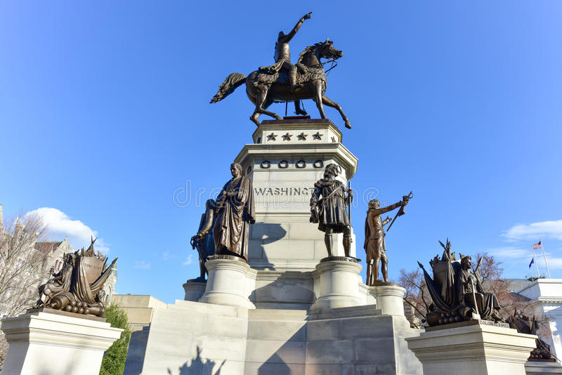 Washington Equestrian Monument - Richmond Virginia images libres de droits