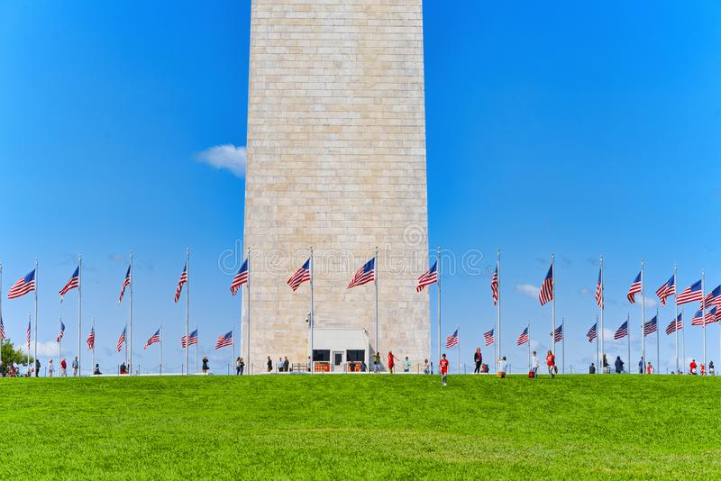 Washington, Etats-Unis, Washington Monument est un obélisque sur la nation images stock