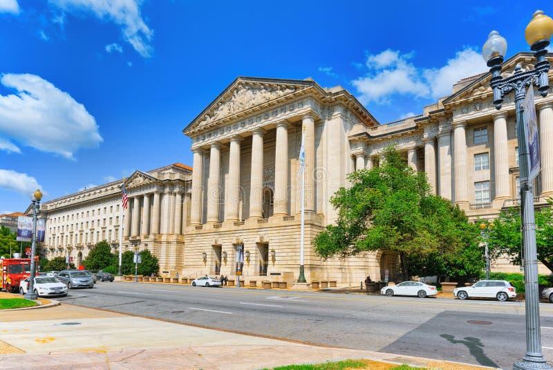 Washington, Etats-Unis, William Jefferson Clinton West Building images libres de droits