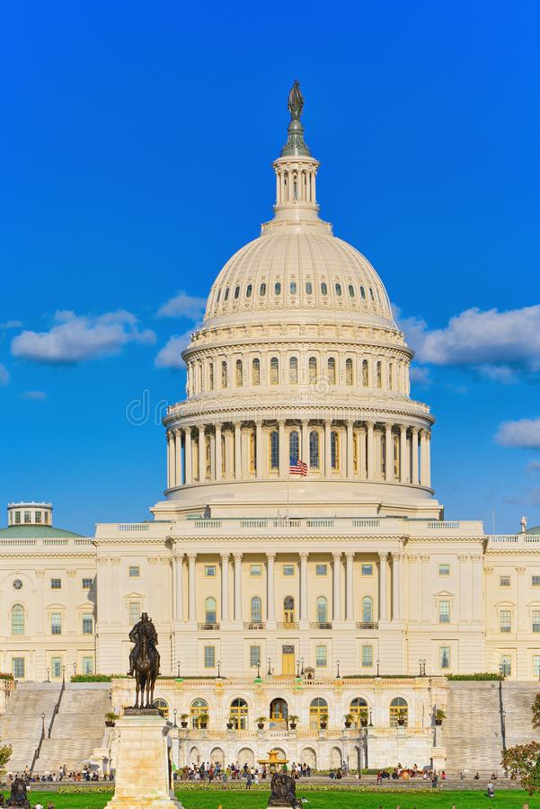 Washington, EUA, Capitólio do Estados Unidos, Ulysses S Grant Memoria fotografia de stock royalty free