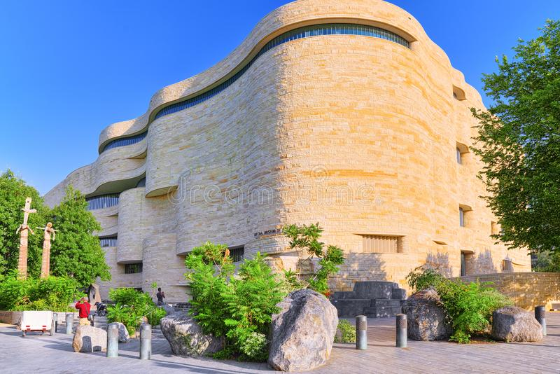 Washington, EUA, Museu Nacional do indiano americano fotos de stock