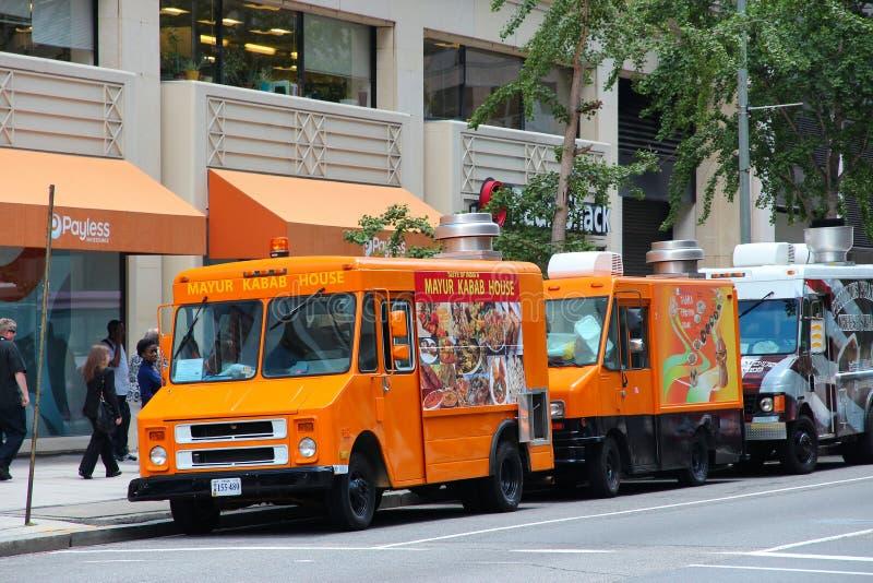 Washington food trucks royalty free stock photo