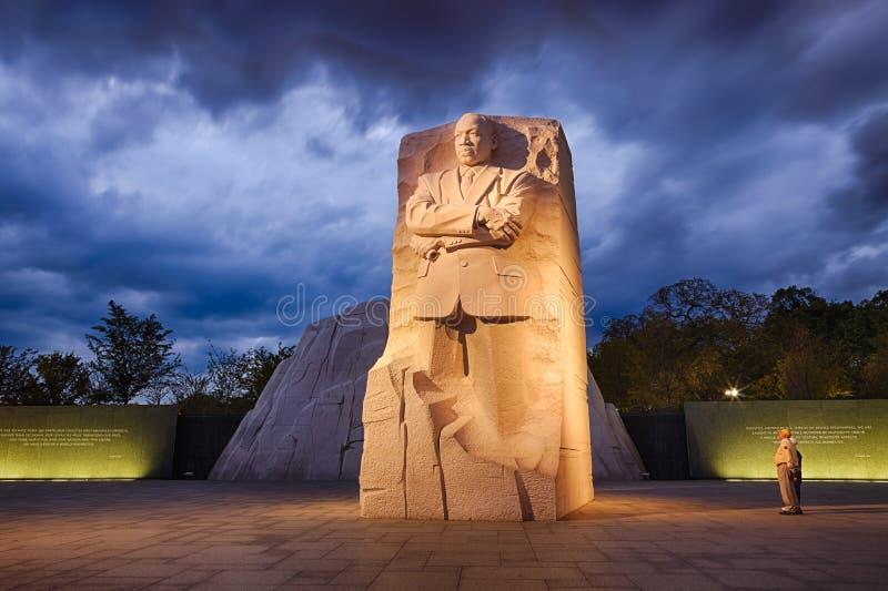WASHINGTON, gelijkstroom - Gedenkteken aan Dr. Martin Luther King stock afbeeldingen