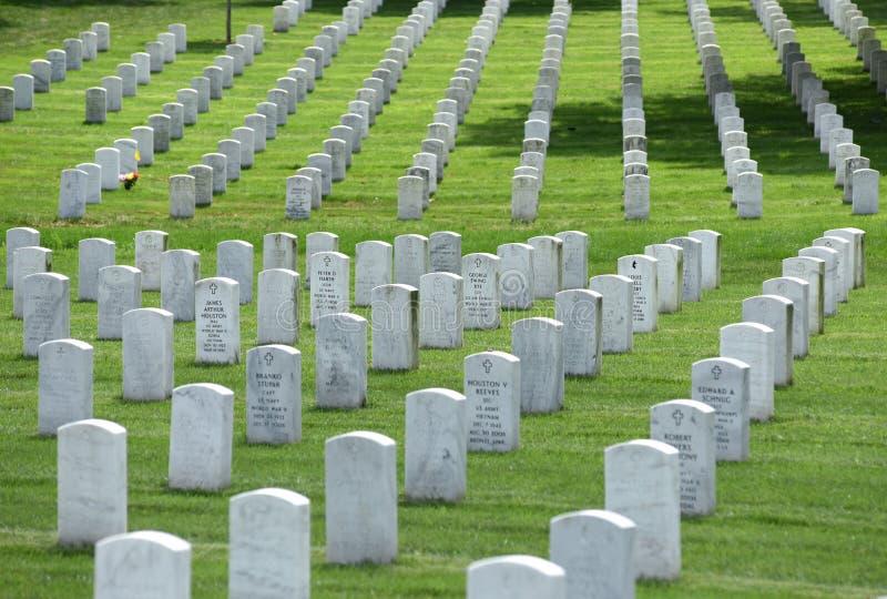 Washington, gelijkstroom - 01 Juni, 2018: Arlington Nationale Begraafplaats royalty-vrije stock foto's