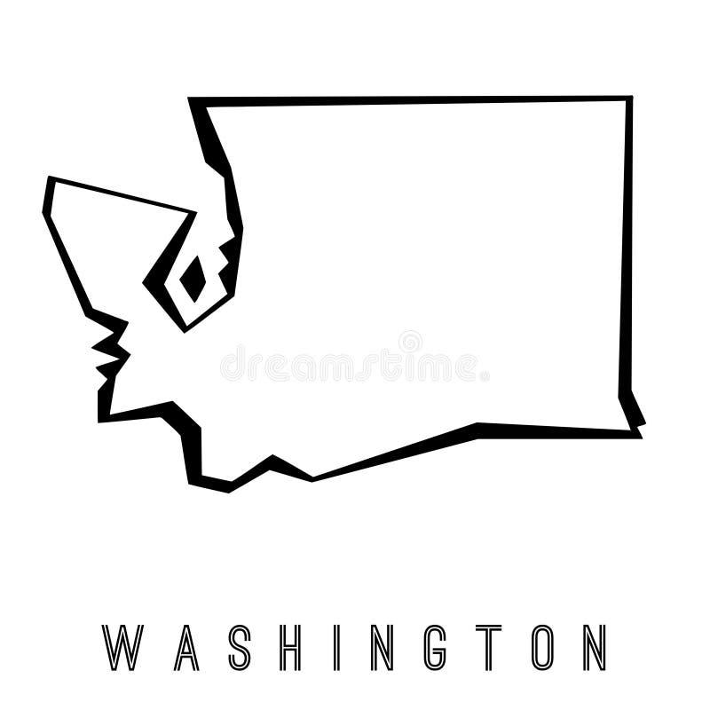 Washington geometric map royalty free illustration