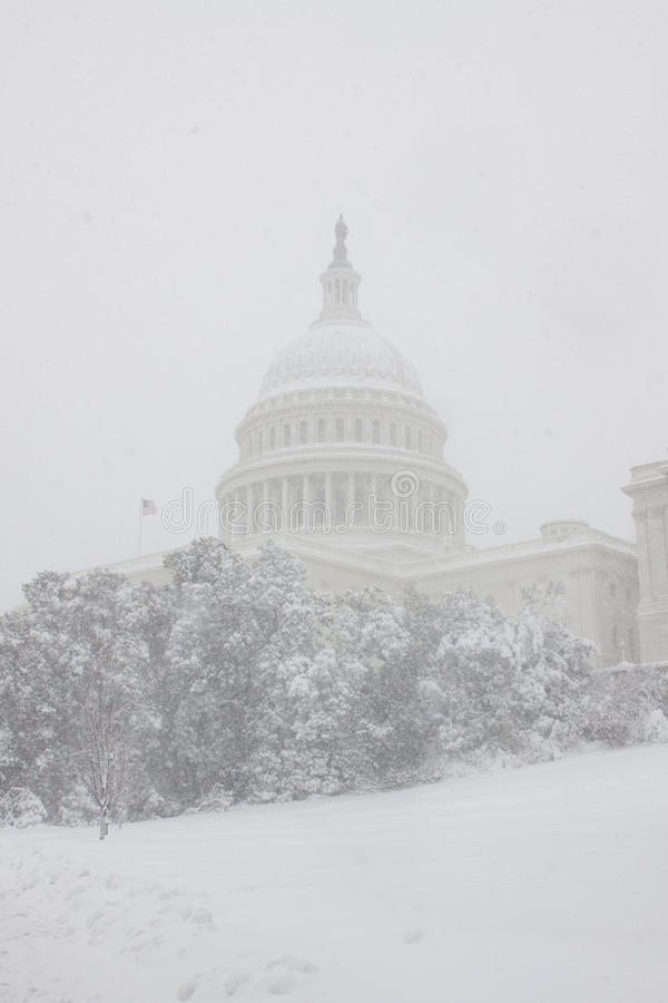 Washington, Gleichstrom-Blizzard stockbild