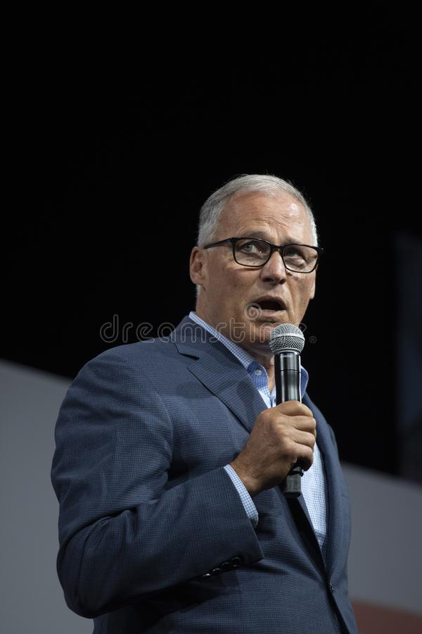 Washington Governon Jay Inslee fotos de stock royalty free
