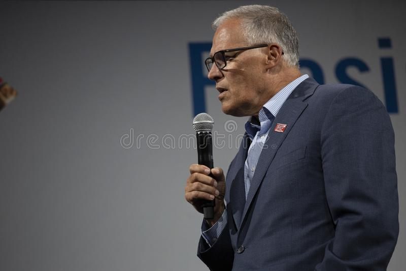 Washington Governon Jay Inslee photo libre de droits