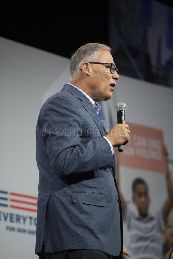 Washington Governon Jay Inslee photos stock