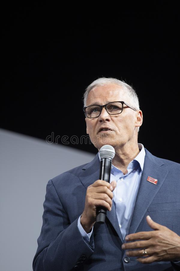 Washington Governon Jay Inslee photo stock