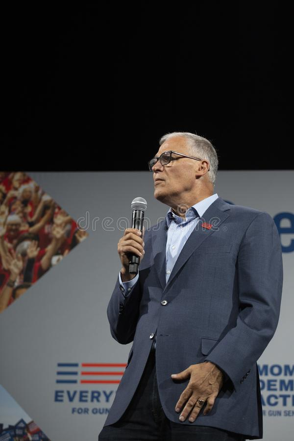 Washington Governon Jay Inslee photographie stock libre de droits