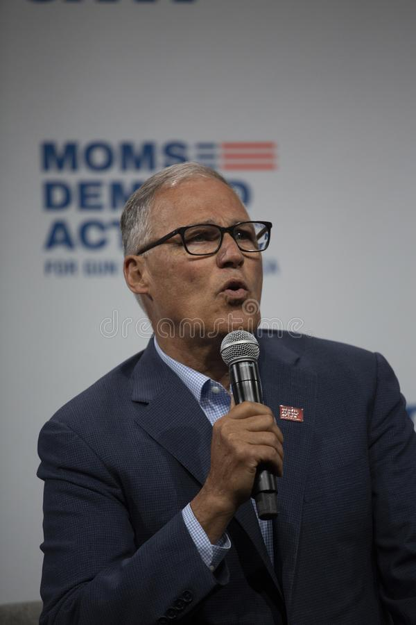 Washington Governon Jay Inslee image stock