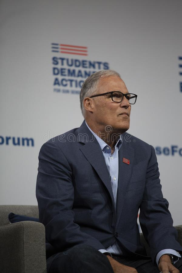 Washington Governon Jay Inslee stockbilder